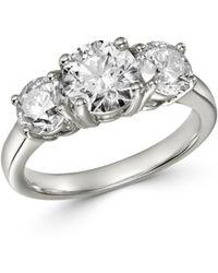 Bloomingdale's Diamond 3 - Stone Ring In 14k White Gold