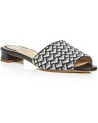Jerome C. Rousseau - Delair Beaded Low Heel Slide Sandals - Lyst