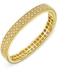Roberto Coin 18k Yellow Gold Byzantine Barocco Diamond Bangle Bracelet - Metallic