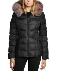 Dawn Levy - Nikki Saga Fur Trim Short Down Coat - Lyst