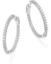 Bloomingdale's - Diamond Inside Out Hoop Earrings In 14k White Gold, 1.0 Ct. T.w - Lyst