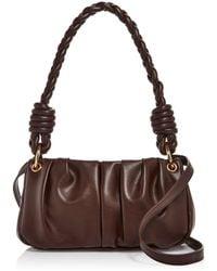 Aqua Soft Shoulder Bag - Brown
