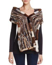 Maximilian Knit Mink Fur Stole - Brown
