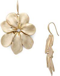Robert Lee Morris Flower Drop Earrings - Metallic