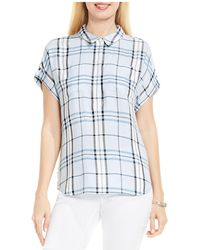 Two By Vince Camuto - Box Plaid Button-down Shirt - Lyst