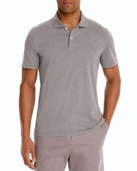 Bloomingdale's Slub Jersey Enzyme Wash Classic Fit Polo - Gray