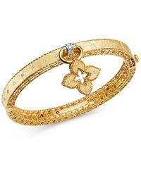 Roberto Coin 18k Yellow Gold & 18k White Gold Venetian Princess Diamond Bangle Bracelet - Metallic