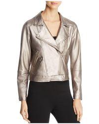Lyssé - Jones Metallic Faux Leather Moto Jacket - Lyst