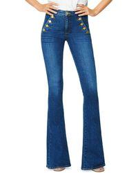 Ramy Brook Helena Flared Leg Sailor Jeans - Blue
