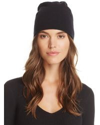 C By Bloomingdale's Angelina Cashmere Slouch Hat - Black