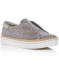 J/Slides Women's Kayla Woven Slip - On Platform Sneakers - Multicolor