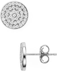 Aqua - Circle Stud Earrings - 100% Earrings - Lyst
