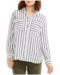 Two By Vince Camuto - Stripe Button-down Shirt - Lyst