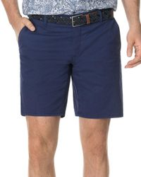 Rodd & Gunn The Peaks Cotton - Blend Over - Dyed Classic Fit Shorts - Blue