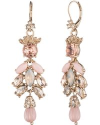 Marchesa - Goldtone Large Cluster Drop Earrings - Lyst