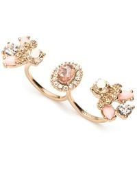 Marchesa - Double-finger Cocktail Ring - Lyst