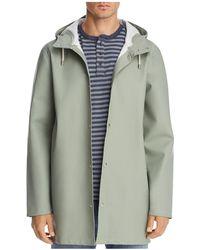 Stutterheim Stockholm Hooded Raincoat - Green