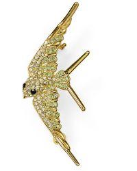 Nadri Pavé Swallow Pin - Yellow