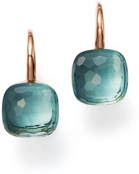 Pomellato - Nudo Earrings With Blue Topaz In 18k Rose And White Gold - Lyst
