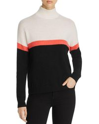 C By Bloomingdale's Color - Block Mock Neck Cashmere Sweater - Multicolor