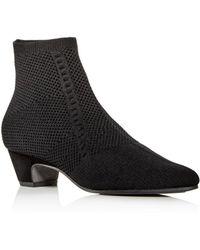Eileen Fisher Women's Purl Knit Low - Heel Booties - Black