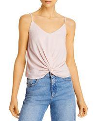 Aqua Knot - Front Camisole - Pink