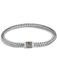 John Hardy - Sterling Silver Classic Chain Extra Small Bracelet With Mixed Grey Sapphire - Lyst