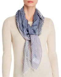 Echo Stripes And Stripes Scarf - Blue