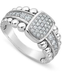 Lagos - Sterling Silver Caviar Spark Diamond Ring - Lyst