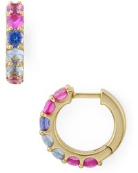Nadri - Bloom Multicolour Huggie Hoop Earrings - Lyst