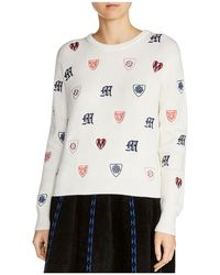 Maje - Martela Embroidered Sweater - Lyst