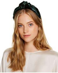 Eugenia Kim Maryn Shimmery Velvet Headband - Brown