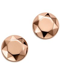 Bloomingdale's - 14k Rose Gold Faceted Dome Earrings - Lyst