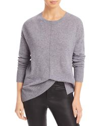 C By Bloomingdale's High/low Cashmere Crewneck Jumper - Grey
