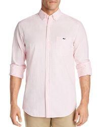 Vineyard Vines Aberdeen Tucker Classic - Fit Button - Down Shirt - Pink