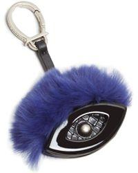 Etienne Aigner Evil Eye Fur Bag Charm - Blue