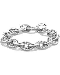 David Yurman Sterling Silver Chain Link Bracelet - Metallic