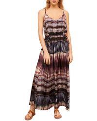 Gerard Darel Saelle Printed Maxi Dress - Purple