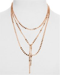 BaubleBar - Amber Layered Chain Y-necklace - Lyst