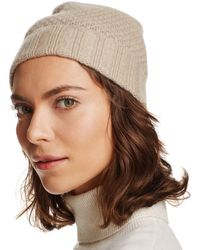C By Bloomingdale's Waffle Knit Cashmere Hat - Brown