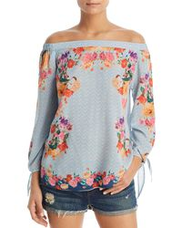 Tolani - Nyala Mixed Print Off-the-shoulder Top - Lyst