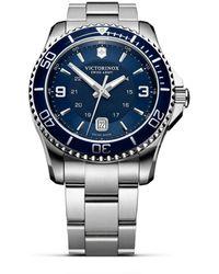 Victorinox Maverick Gs Bracelet Watch - Blue