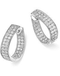Bloomingdale's - Diamond Inside Out Hoop Earrings In 14k White Gold, 1.50 Ct. T.w. - Lyst