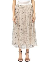 Peserico Long Skirt With Basque - Natural