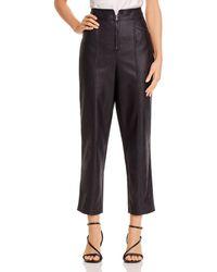 Rebecca Taylor Vegan Leather Trousers - Black