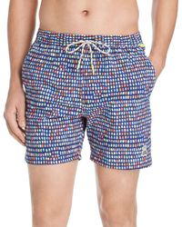 6fa4a707df3ea Psycho Bunny - Multi - Dot Swim Trunks - Lyst