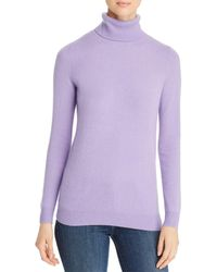 C By Bloomingdale's Cashmere Turtleneck Sweater - Purple