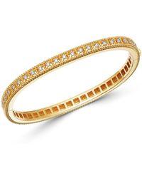 Roberto Coin 18k Yellow Gold Byzantine Barocco Diamond Single Row Bangle Bracelet - Metallic