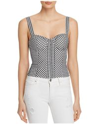 Guess - Gingham Bustier Top - Lyst