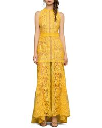 Bronx and Banco Athena Lace Gown - Yellow
